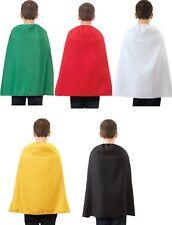 "Child Cape (Choose Your Color) 28"" Child Super hero Costume Halloween Caped"