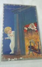 Vtg The Night Before Christmas postcard copyright 1910
