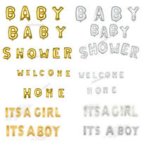 "Silver/Gold 16"" Foil Balloons 'BABY SHOWER' 'ITS A BOY' 'ITS A GIRL' 'OH BABY'.."