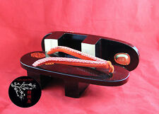 GETA Chaussures Japonaises 230mm HANDMADE JAPANESE WOOD SHOES GEISHA MAIKO KYOTO