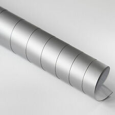 5x DIN A4 Wrapping Folie Matt Silber 21cm x 29,7cm Autofolie mit Luftkanälen
