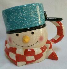 Hallmark Mitford 3D Snowman Holiday Christmas Coffee Cup Mug Jan Karon 1996 USA