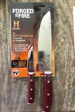Forged in Fire As Seen on Tv 2 Piece knife set History Channel 50 Year Warranty-