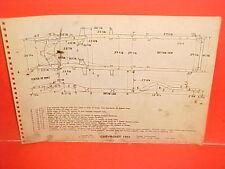 1955 CHEVROLET 150 210 BELAIR COUPE SEDAN NOMAD WAGON FRAME DIMENSION CHART 55