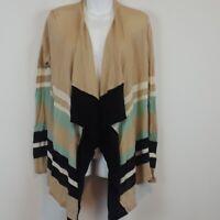 NWT Dana Buchman striped open front cardigan women's size small