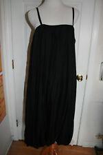 Lagenlook ELM DESIGN BLACK BALLOON SILK DRESS SIZE 3 (NWOT)