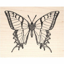 Swallowtail Butterfly Beeswax Rubber Stamp Mounted Animals Insect Scenic