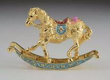 Horse trinket box by Keren Kopal Austrian Crystal Jewelry box Faberge