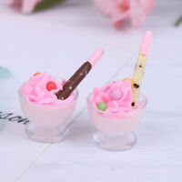 1:12 Dollhouse Miniature Chocolate Ice Cream Cup Dolls Kitchen Food Accessor Ha