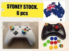 6 PCS PS 3/4 /Xbox 360,XBOX ONE S,Thumb stick Grip Analogue silicone cap SYDNEY