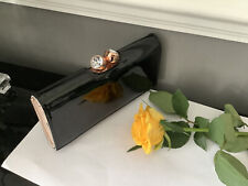 Ted Baker Black Patient Purse Good Condition Pink Lining 🌷💕🌷