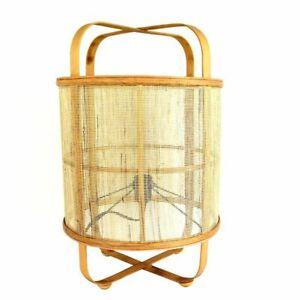 Indah Rattan Table Lamp/Light 34x50.5cm Natural Steam Bent Wood Décor Plugin