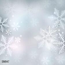 Xmas Tree Snow Winter  8x8 FT CP  PHOTO SCENIC BACKGROUND BACKDROP SM047