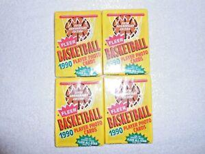 1990-91 Fleer Basketball Cards Wax Packs - Lot of 4  Jordan Pack