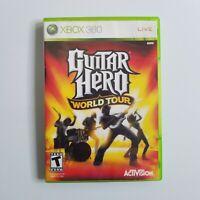 Guitar Hero World Tour Xbox 360 Game Complete CIB Bin13