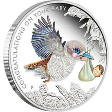 2015 50c Newborn Baby 1/2oz Silver Proof Coin Perth Mint