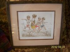 "Art Print By  Miriam Ecker Limited Edition ""Future Stars"" Soccer 271/350"