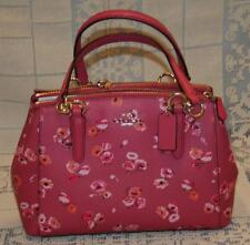 Coach Mini Christie Carryall Wildflower Dahlia Multi Pink Purse Handbag NWT New