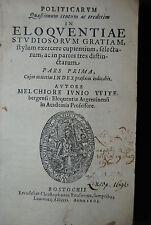 Junius - Politicarum quaestionum centum ac tredecim - Rostock 1603-04