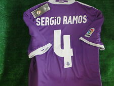 REAL MADRID AWAY SHIRT 2016-17 ** SERGIO RAMOS ** SIZE SMALL BNWT