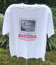Very RARE Pokerstars.com WCOOP World Tour 2004 T Shirt White XXXL