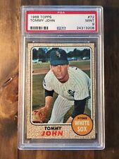 1968 Topps Tommy John #72 PSA 9 Chicago White Sox