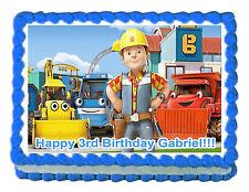 "Bob the Builder edible image  cake topper decoration -7.5""x10"""