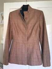 TED BAKER WOMEN LIGHT PINK CHECKED JACKET size 0