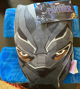 "Marvel BLACK PANTHER Nogginz Set Avengers 60"" x 90 Pillow and Blanket New"