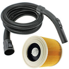 2m Hose + Filter for KARCHER Wet & Dry WD2 WD2.200 WD2.240 WD2024 WD2064 WD2200