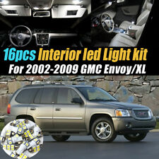 16Pc Super White Car Interior LED Light Bulb Kit for 2002-2009 GMC Envoy/XL