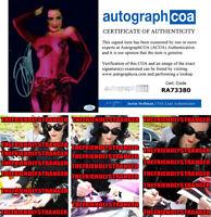 DITA VON TEESE signed Autographed 8X10 PHOTO C - PROOF - SEXY Hot ACOA COA