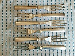 """WM ROGERS & SONS 12"" LOT OF VINTAGE FLATWARE: 6 FORKS, PATTERN UNKNOWN"