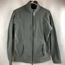 Lands End Women's Gray Polyester Full Zip Lightweight Fleece Jacket Size S