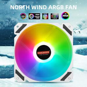 PC Case Fan 120mm PWM 4 Pin ARGB for CPU Water Air Cooler Addressable RGB Fan