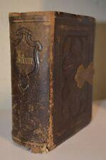 Photograph Album Book Victorian Clasp 10 Photo Tintype Vermont ANTIQUE VTG 1800s