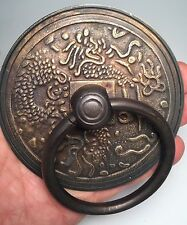 Villa Classic Chinese Vintage Patina Door Cabinet Lock Handle Grade A Bronze