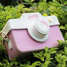 Kawaii camera shape shoulder bag lolita pink 3D cartoon bag best gift