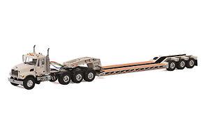 "Mack Granite Truck w/ 3 Axle Rogers Lowboy Trailer ""WHITE"" - 1/50 - WSI #33-2009"