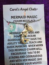 "Mermaid Magical Charm w/pearl Pendant 16"" Carol's Angel Chats"