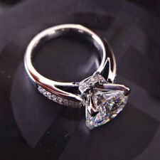 4ct Near White Round Cut Moissanite Ring Engagement Ring 925 Sterling Silver