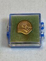 United Way Lapel Pin Vintage Union Gold Tone Old Made Metal IAMAW AFL-CIO In USA
