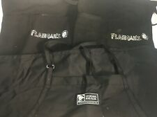 (Lot of 4 Aprons) 3 Waitress Aprons with Pockets 1 Restaurant Line Cook Black