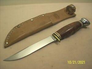 1950's~KABAR~UNUSED VINTAGE HUNTING & FISHING SPORTSMANS KNIFE w/ORIGINAL SHEATH
