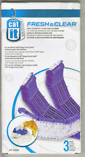 3 Pack Catit Replacement Filters for Feeding / Drinking Station ~ Genuine Fresh