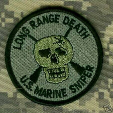 USMC SCOUT SNIPER LONG RANGE DEATH from FAR TALL GRASS hook/loop PATCH