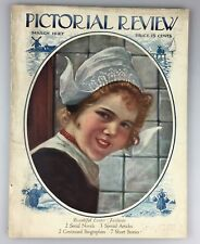 Vintage Ladies' Fashion Sewing Home Magazine Pictorial Review March 1927 Dutch