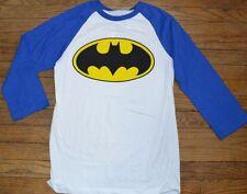 Batman Raglan T-Shirt Officially Licensed DC Comics 3/4 Sleeve Tee Size Medium