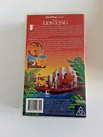 THE LION KING - WALT DISNEY CLASSICS VHS Video (Free ship Aus)