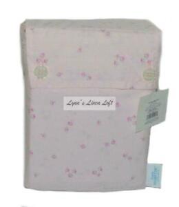RACHEL ASHWELL Simply Shabby Chic Pink Ditsy Floral CAL KING SHEET SET NEW